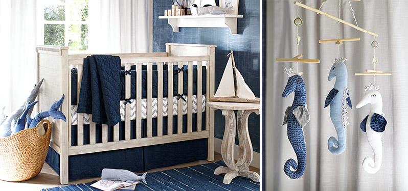 Linen Nursery: Navy
