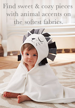 Find sweet & cozy pieces with animal accents on the softest fabrics.