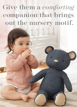 Give them a comforting companion that brings out the nursery motif.