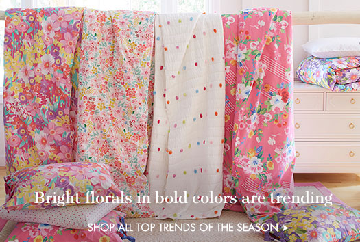 Bright florals in bold colors are trending!