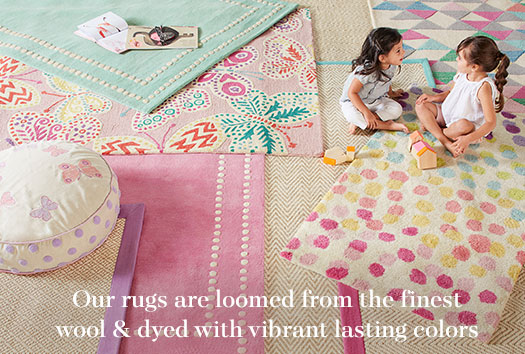 Our rugs are loomed from the finest wool & dyed with vibrant lasting colors.