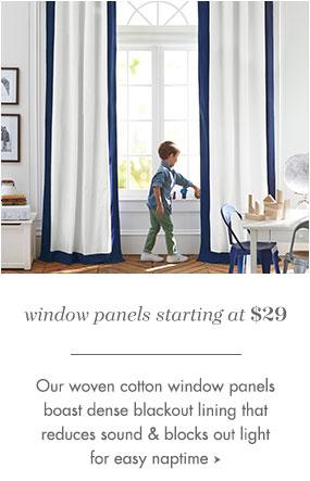 window panels starting at $79