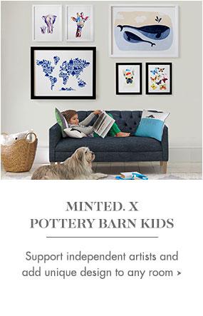 minted x pottery barn kids