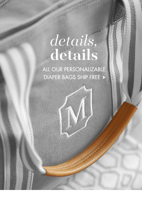 Personalized diaper bags ship free