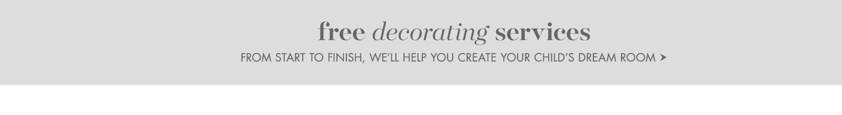 Free Decorating Services