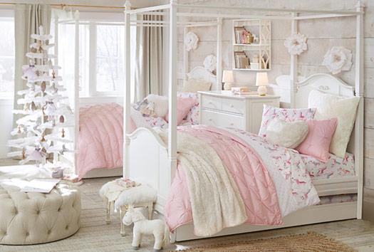 Unicorn Flannel Bedroom Pottery Barn Kids