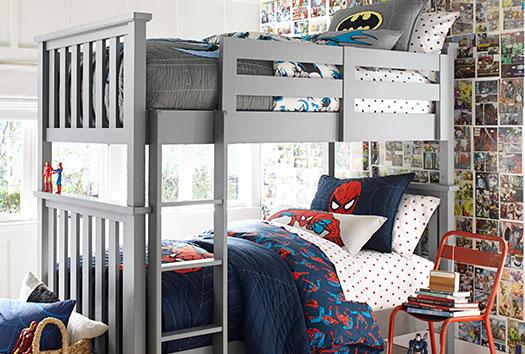 SUD116_Boy_Rooms_Spiderman_Batman_2x1