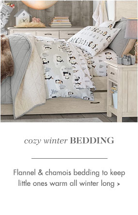 Cozy winter bedding