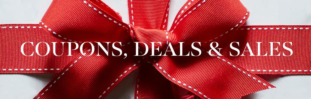 Coupons, Deals & Sales