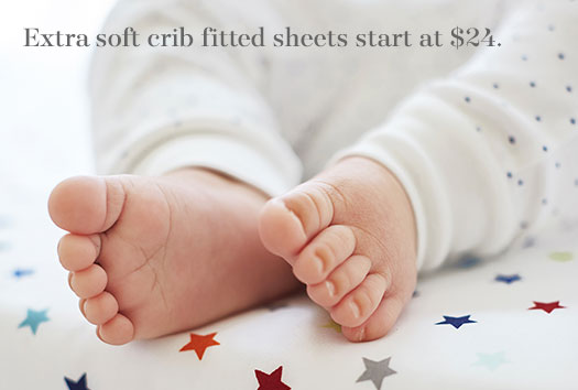 Extra soft crib fitted sheets start at $24