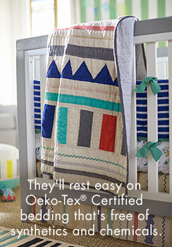They'll reset easy on Oeko-Tex Certified bedding that's free of synthetics and chemicals.