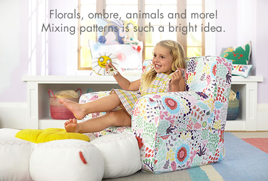 Florals, ombre, animals and more! Mixing patterns is such a bright idea.