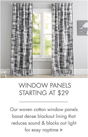 Window panels starting at $29