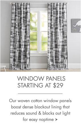 Window panels starting at $29