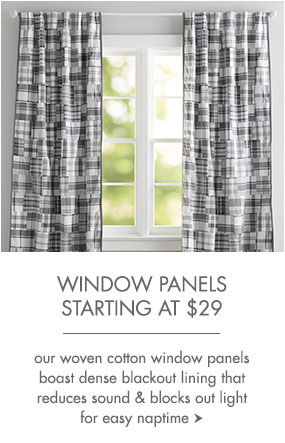 Window panels start at $29