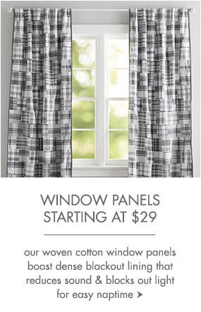Window panels start at $29