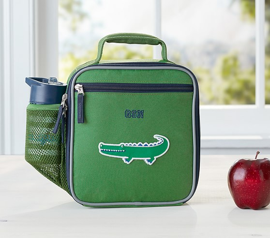 Fairfax Solid Green Lunch Bags Pottery Barn Kids