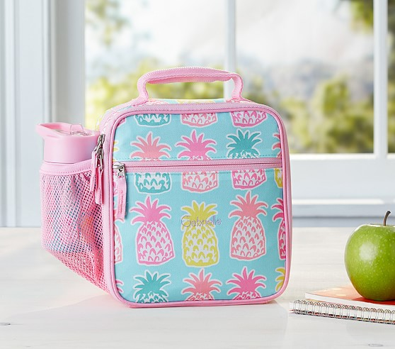 Mackenzie Aqua Pineapple Lunch Bag