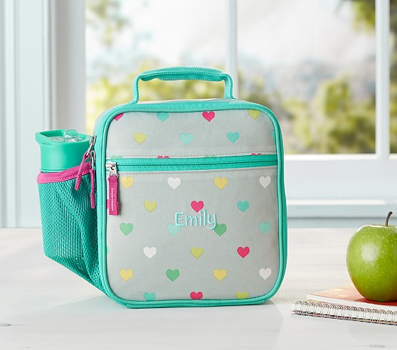 Mackenzie Gray Multicolor Heart Lunch Bag