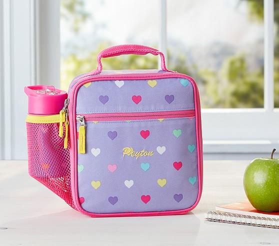 Mackenzie Lavender Multicolor Heart Lunch Bag
