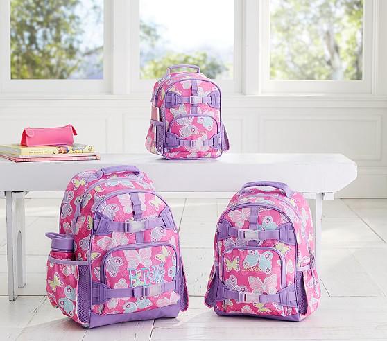 Mackenzie Pink Pretty Butterfly Backpack