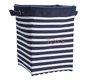 Navy Breton Stripe Canvas Storage, Large
