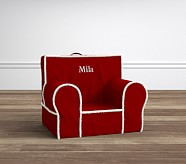 Red Twill with Sherpa Trim My First Anywhere Chair®