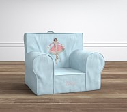 Light Blue Velvet Ice Skater Anywhere Chair®