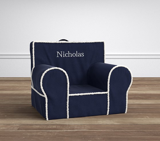 Navy Suede with Sherpa Anywhere Chair®