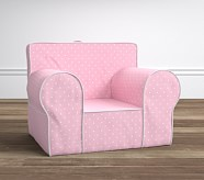 Oversized Anywhere Chair® - Pin Dot Light Pink