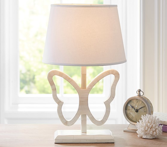 inlay butterfly complete lamp pottery barn kids. Black Bedroom Furniture Sets. Home Design Ideas