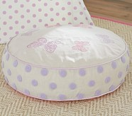 Round Tuffet Insert & Slipcover, Lavender Butterfly