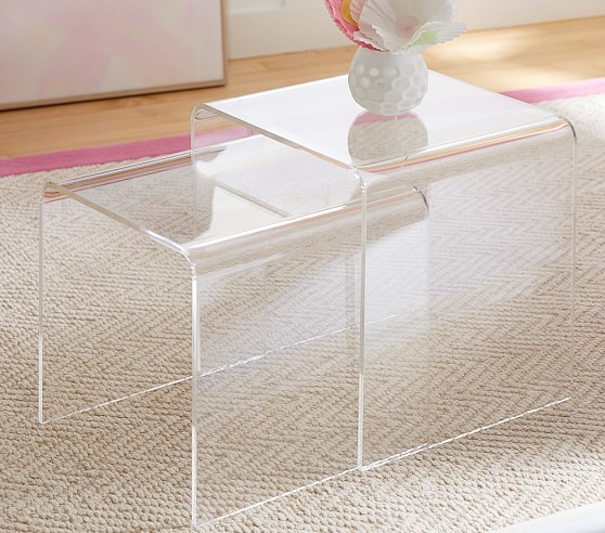 Acrylic nesting tables set of pottery barn kids