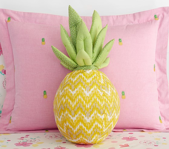 Pineapple Shaped Decorative Pillow Pottery Barn Kids