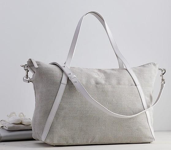 monique lhuillier gray diaper bag pottery barn kids. Black Bedroom Furniture Sets. Home Design Ideas