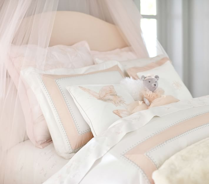 Beautiful Monique Lhuillier duvet cover in pale peach