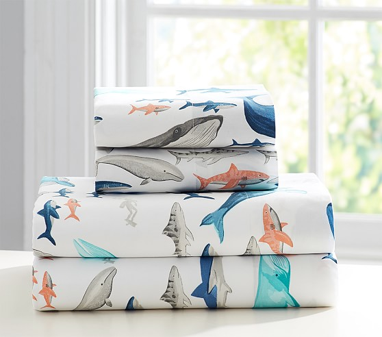 Asher Whale Sheet Set