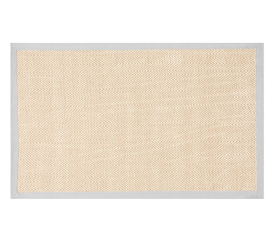 Chenille Jute Thick Solid Border Rug Gray Pottery Barn