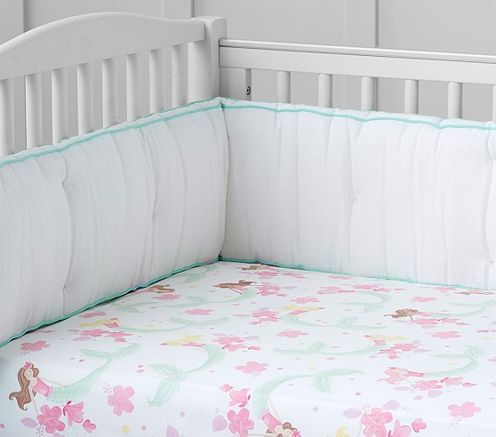Mermaid Crib Fitted Sheet
