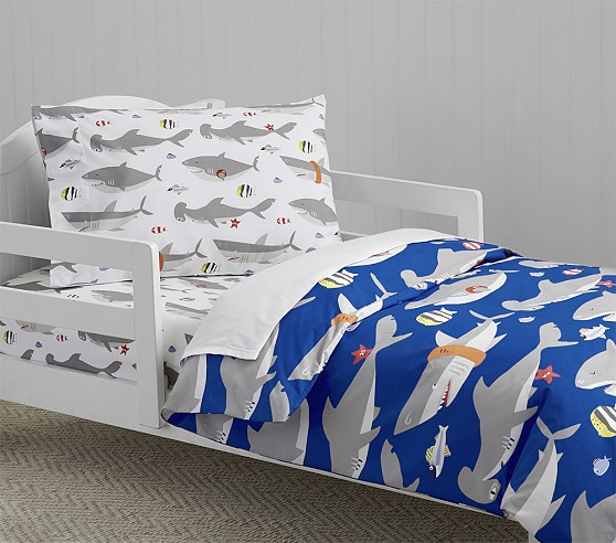 Shark Toddler Duvet Cover Pottery Barn Kids