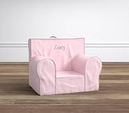 My First Anywhere Chair® - Light Pink Belgian Flax Linen