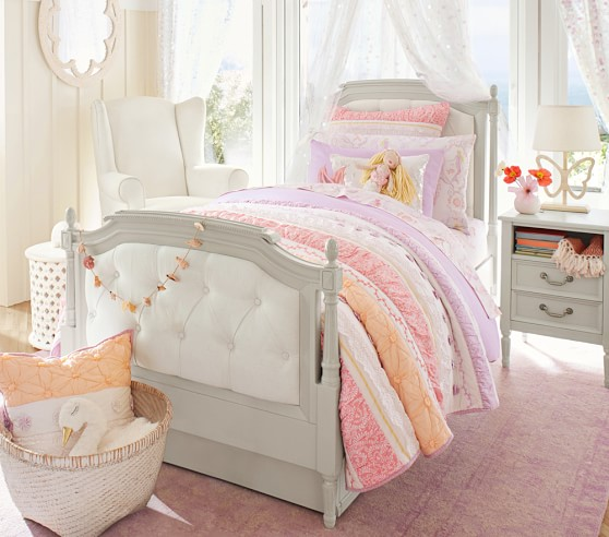 Bailey Ruffle Quilted Bedding Pottery Barn Kids