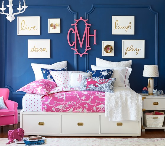 Gold sentiment inserts pottery barn kids for Pottery barn kids room ideas