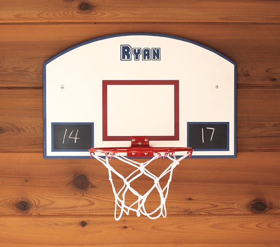 Personalizable basketball hoop pottery barn kids for Basketball hoop for kids room