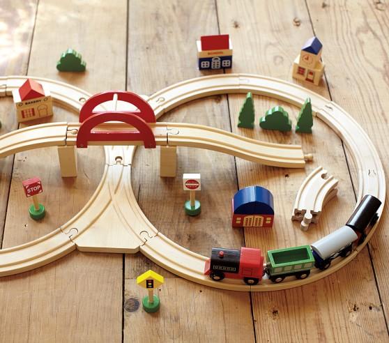 wooden train set pottery barn kids. Black Bedroom Furniture Sets. Home Design Ideas