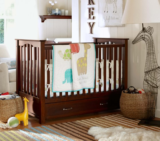 Organic Safari Animals Nursery Bedding Pottery Barn Kids