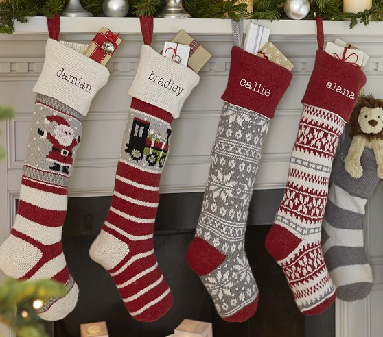 Natural Fair Isle Stocking Collection Pottery Barn Kids