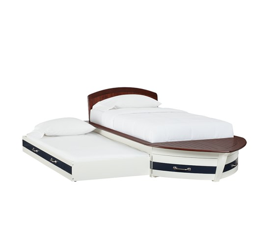 Pottery Barn Twin Speedboat Bed With Trundle