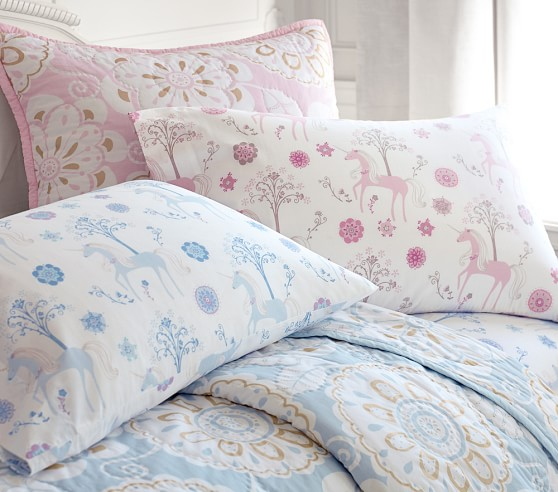 Paige Unicorn Sheet Set Pottery Barn Kids