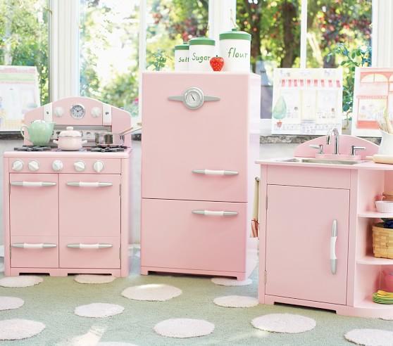 Pink Kitchen Set: Pink Retro Kitchen Collection